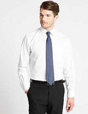 Chemises coupe standard, repassage facile, 5cm plus longue qu'une chemise standard, BLANC, catlanding