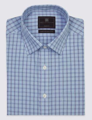 Рубашка на пуговицах с коротким рукавом и карманом M&S Collection T114061