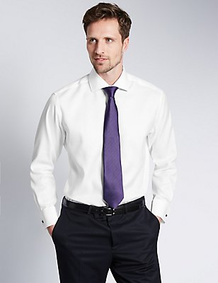 2in Longer Pure Cotton Shirt with Pocket, WHITE, catlanding