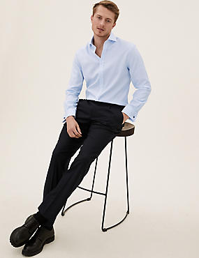 Pure Cotton Non-Iron Tailored Fit Shirt, SKY BLUE, catlanding