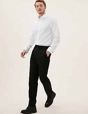 Pure Cotton Easy to Iron Tailored Fit Shirt, WHITE, catlanding
