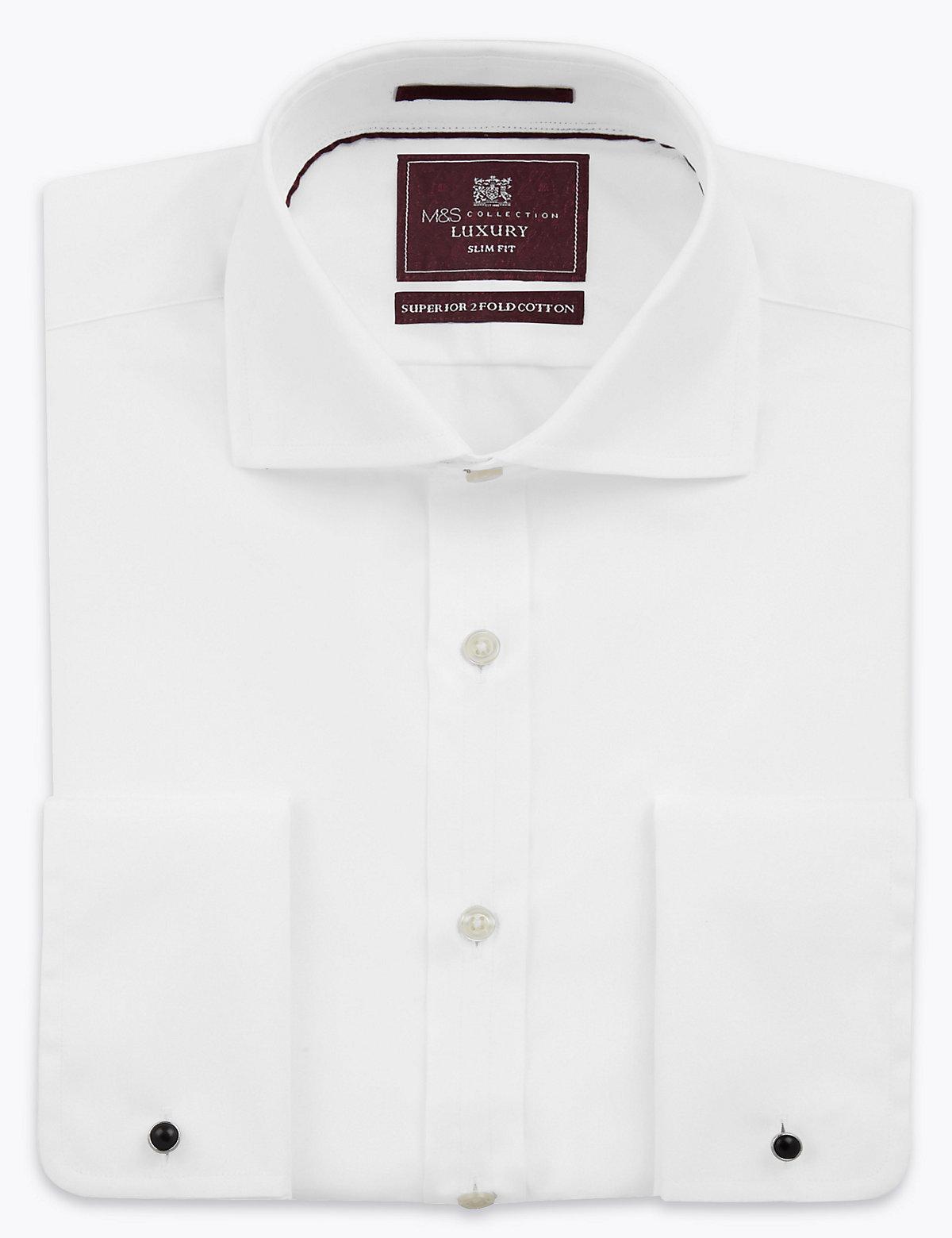 Мужская приталенная рубашка из натурального хлопка