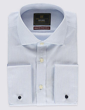 Pure Cotton Non-Iron Tailored Fit Shirts, BLUE MIX, catlanding