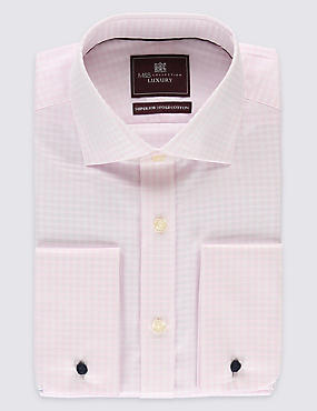 Pure Cotton Checked Shirts, PINK MIX, catlanding