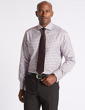 Pure Cotton Regular Fit Checked Shirt, MULBERRY, catlanding
