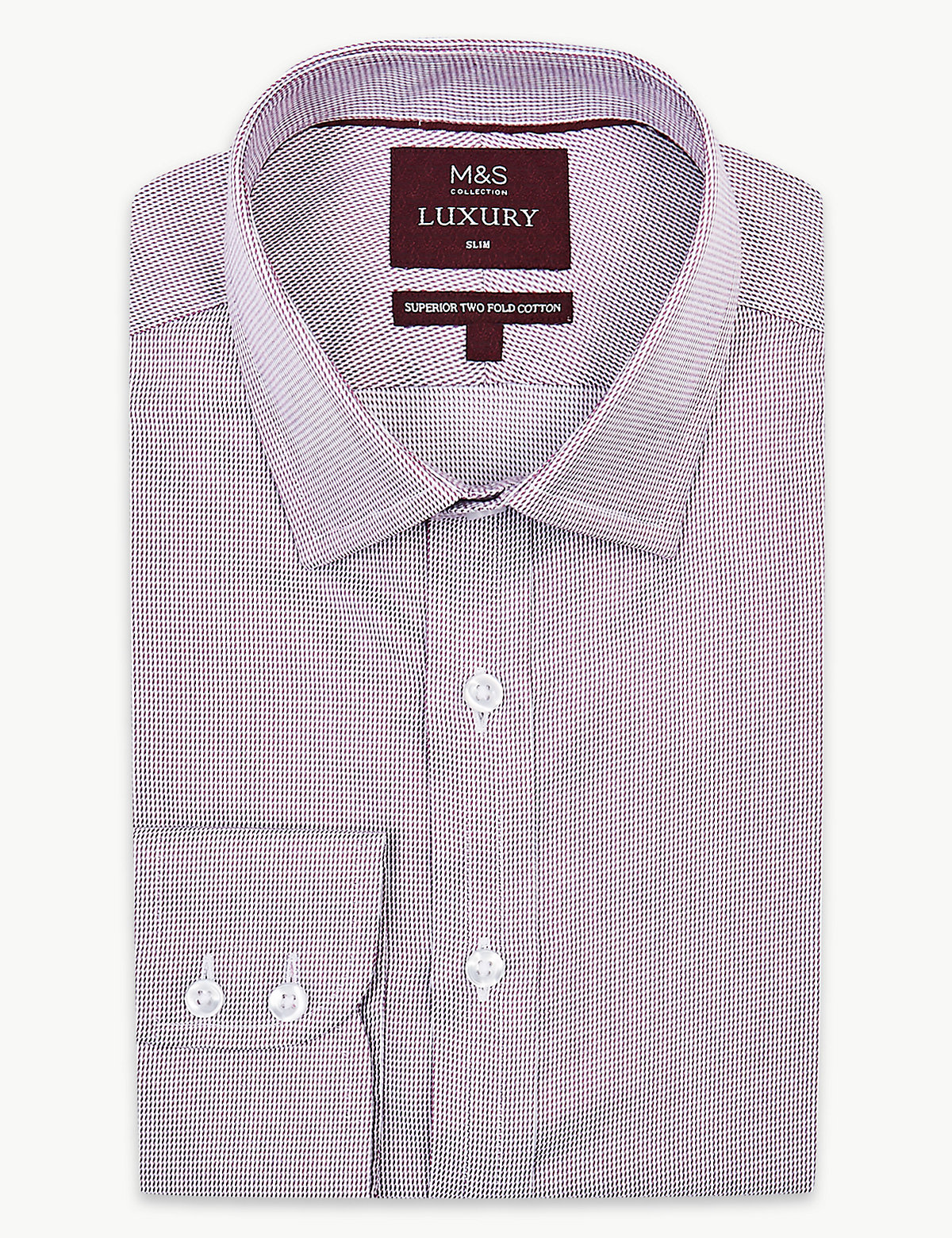Мужская рубашка слим из хлопка Twill