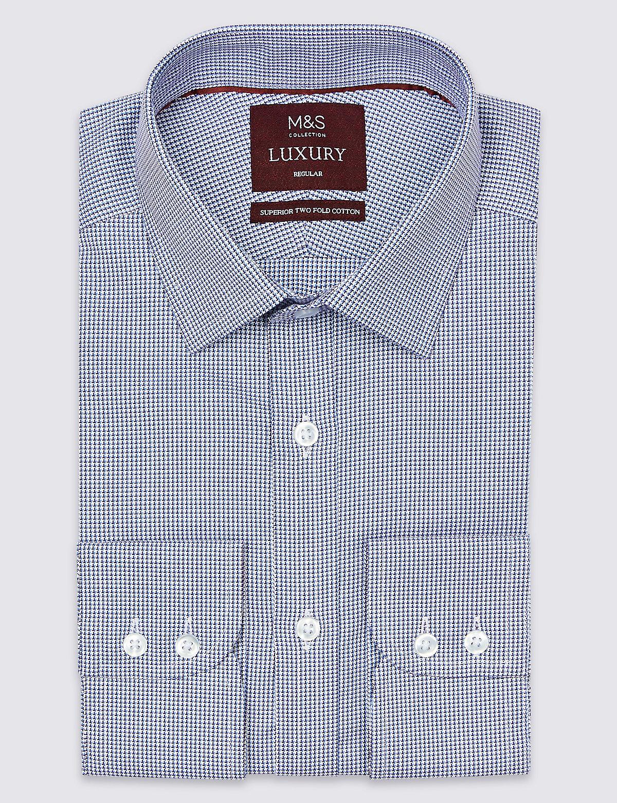 Рубашка мужская классическая из 100%-го хлопка