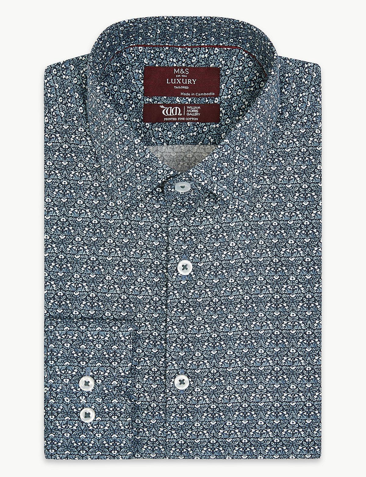 Рубашка с принтом от Уильяма Морриса