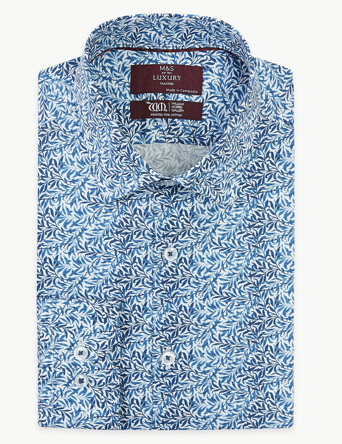 Мужская рубашка с принтом Ивы от Уильяма Морриса