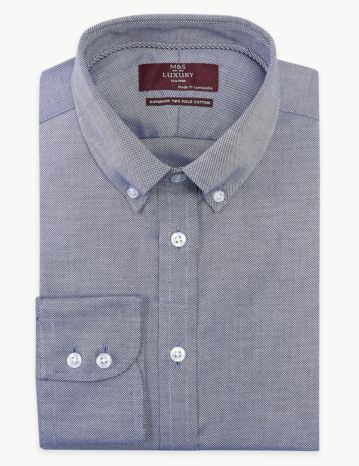 Мужская рубашка Oxford с технологией Easy to Iron
