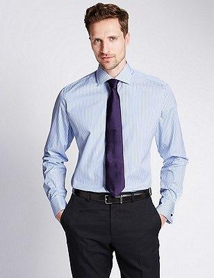 Pure Egyptian Cotton Bengal Striped Shirt, BLUE MIX, catlanding