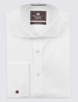 Слегка приталенная рубашка из чистого хлопка Non-Iron под запонки