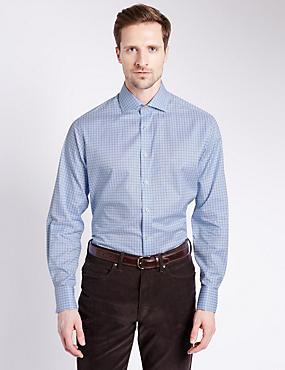 Pure Egyptian Cotton Checked Shirt