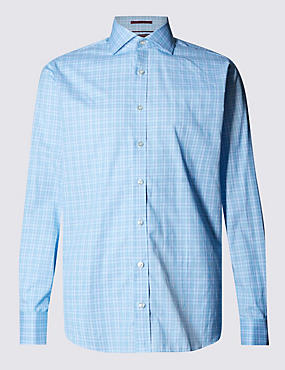 Pure Egyptian Cotton Ombre Checked Shirt