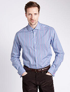 Pure Egyptian Cotton Striped Shirt