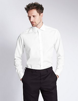 Pure Cotton Regular Fit Woven Shirt, WHITE, catlanding