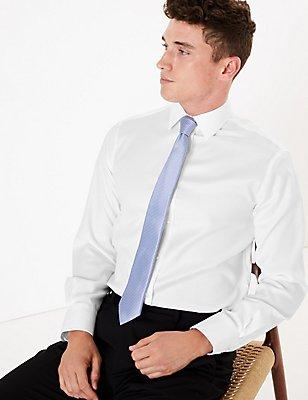Pure Cotton Easy to Iron Shirt, WHITE, catlanding