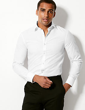 Pure Cotton Easy to Iron Regular Fit Shirt, WHITE, catlanding