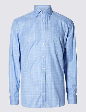 Pure Egyptian Cotton Prince of Wales Checked Shirt