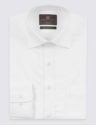 Однотонная рубашка Easy to Iron с карманом для высокого джентльмена M&S Collection T115055L