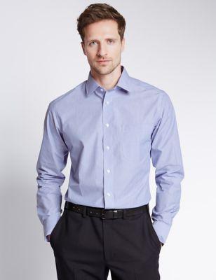 Рубашка мужская в узкую полоску