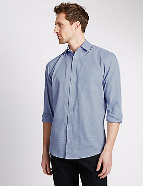 Cotton Rich Shadow Checked Shirt
