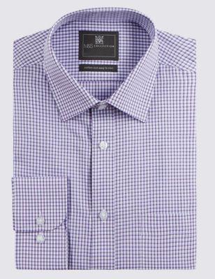 Хлопковая рубашка в клеточку от Marks & Spencer