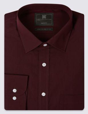 Рубашка из хлопкового смесового волокна Easy to Iron M&S Collection T115111