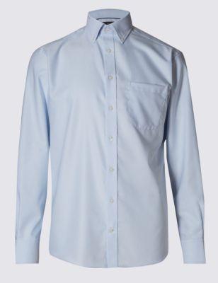 Оксфордская рубашка с длинным рукавом из чистого хлопка Easy to Iron M&S Collection T117240C