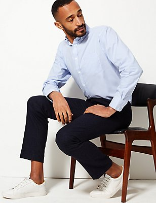 Easy to Iron Regular Fit Oxford Shirt, SKY, catlanding
