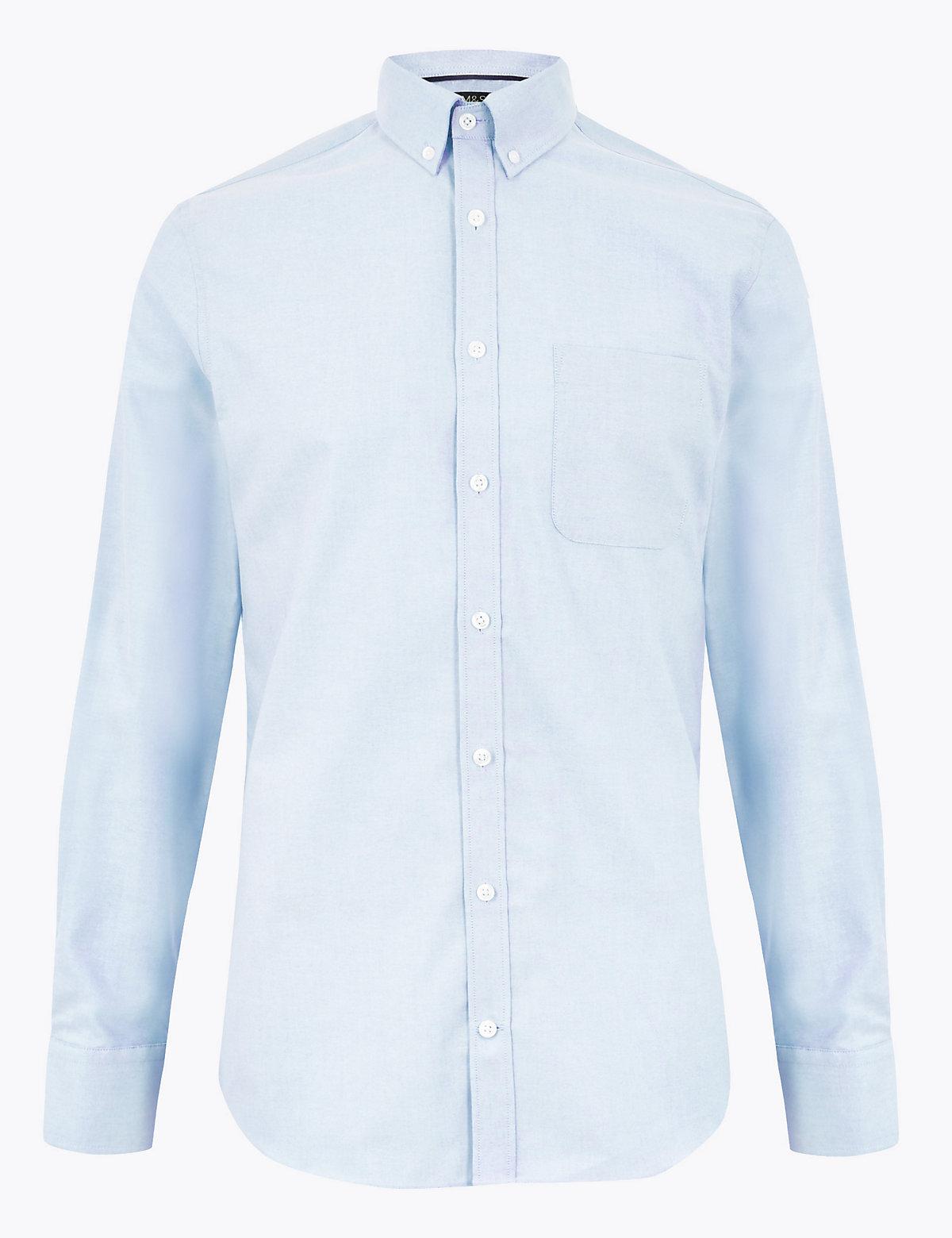 Хлопковая рубашка Oxford