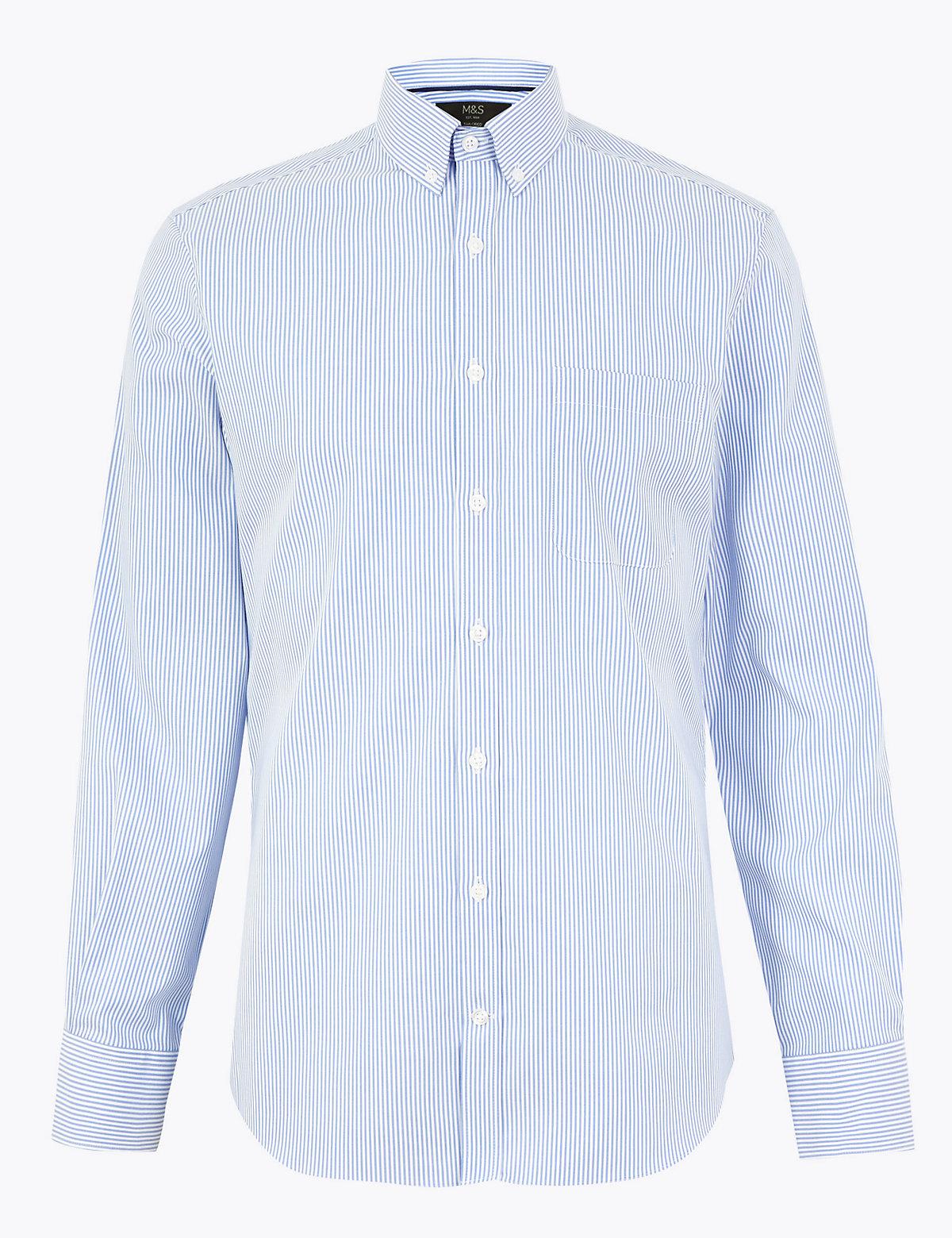 Рубашка по фигуре в полоску с технологией Easy Iron