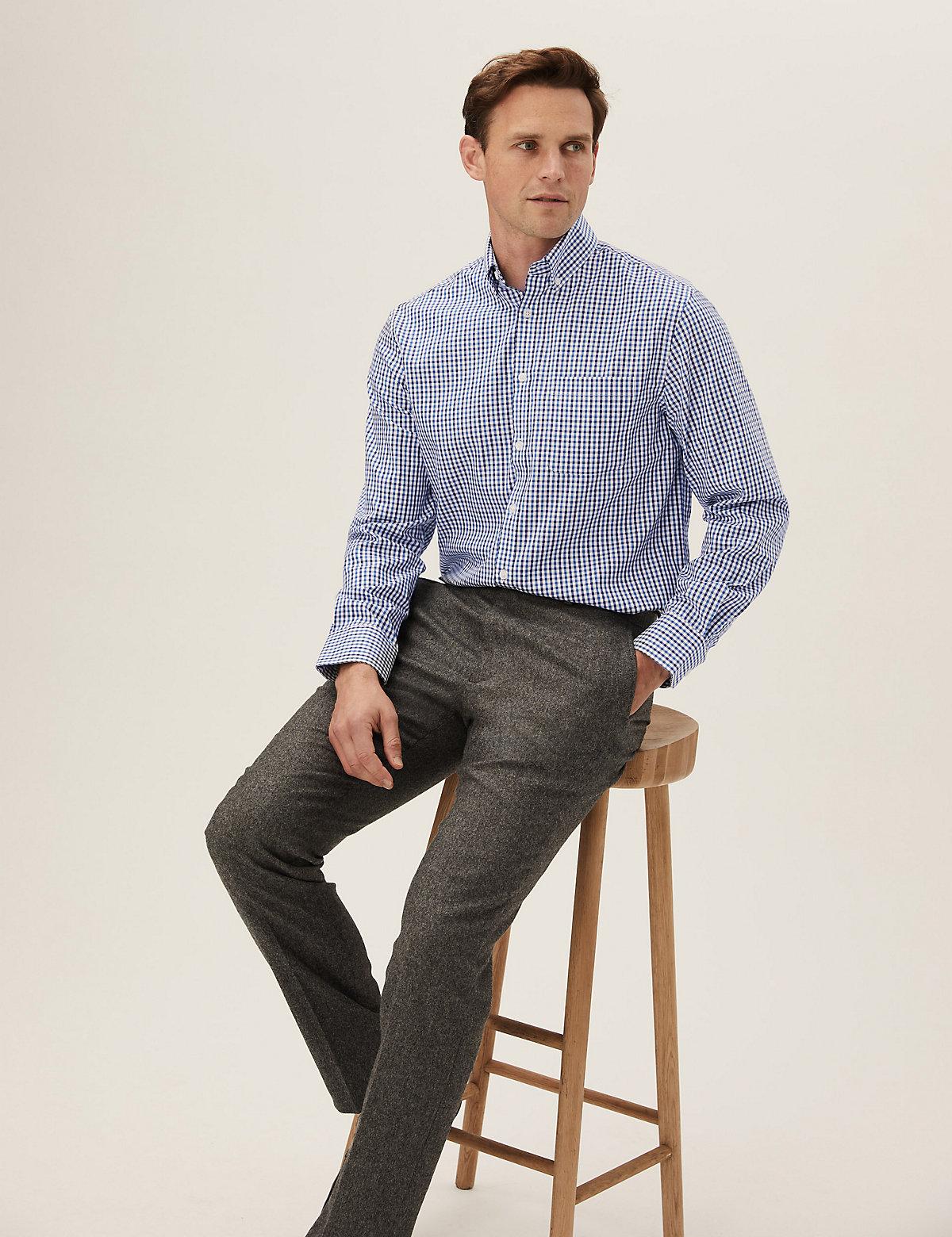 Комплект хлопковых рубашек Oxford стандартного кроя (2 шт)