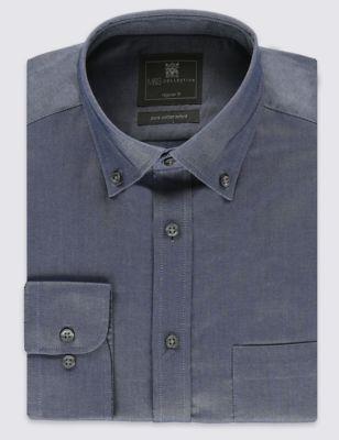 Оксфордская рубашка из чистого хлопка Easy to Iron M&S Collection T117363C