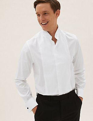 Pure Cotton Easy to Iron Slim Fit Shirt, WHITE, catlanding