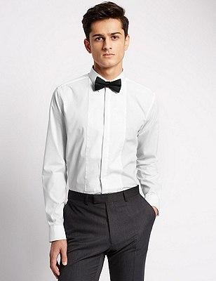 Slim Fit Shirt, WHITE, catlanding