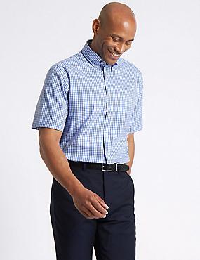 Pure Cotton Easy to Iron Regular Oxford Shirt, , catlanding