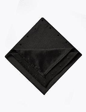 Pure Silk Tie MADE WITH SWAROVSKI® ELEMENTS, BLACK, catlanding