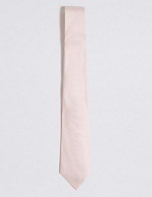 Pure Silk Tie, PINK MIX, catlanding