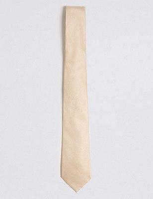 Pure Silk Tie, CHAMPAGNE, catlanding