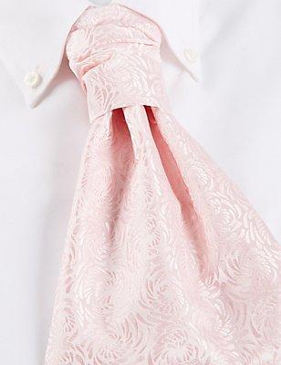 Pure Silk Wedding Cravat, PINK MIX, catlanding