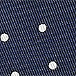 Pure Silk Spotted Pocket Square, NAVY MIX, swatch