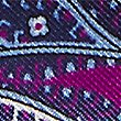 Pure Silk Paisley Print Pocket Square, MAGENTA, swatch