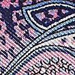 Pure Silk Paisley Print Pocket Square, NAVY, swatch