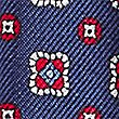 Pure Silk Printed Pocket Square, NAVY, swatch