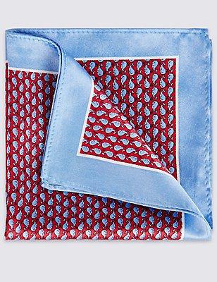 Pure Silk Printed Pocket Square, , catlanding