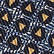 Pure Silk Printed Pocket Square, GOLD MIX, swatch