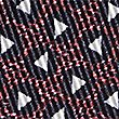 Pure Silk Printed Pocket Square, BURGUNDY MIX, swatch