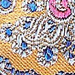 Pure Silk Paisley Print Pocket Square , GOLD MIX, swatch