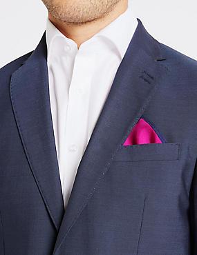Pure Silk Pocket Square, FUCHSIA, catlanding